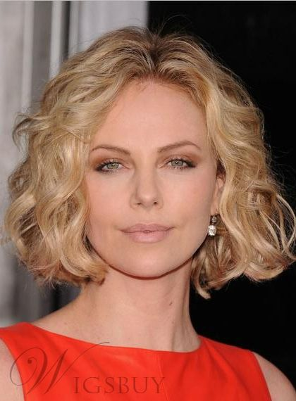 charlize theron short wavy lace front wigs in 2018 hair. Black Bedroom Furniture Sets. Home Design Ideas