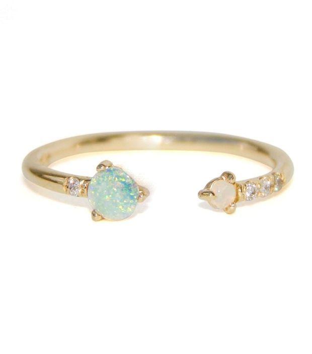 30264f924d046 Catbird :: WHAT'S NEW: jewelry :: Open Opal & Diamond Ring | jewelry ...