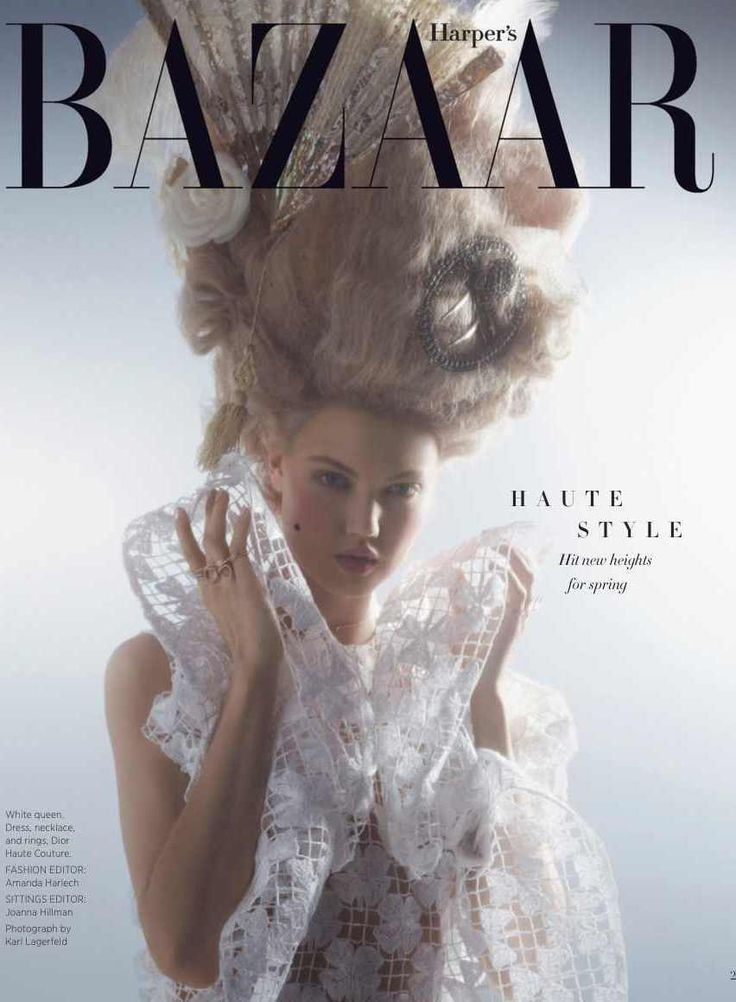 COVER Harper's Bazaar US April 2014 Mode baroque, Mode