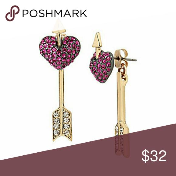 Betsey Johnson hearts and arrows earrings NWT. TA Betsey Johnson Jewelry Earrings