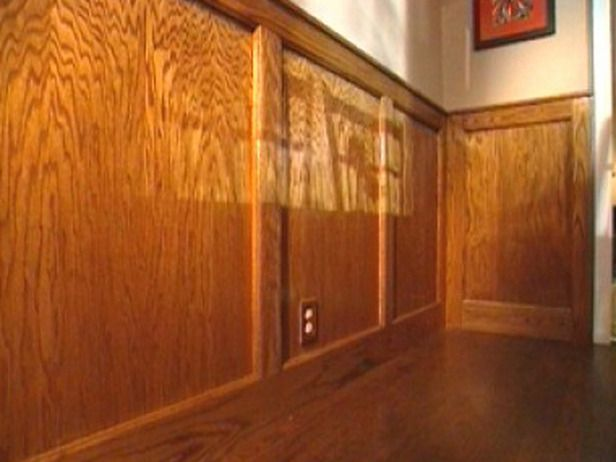 How To Cut Stain And Install Wainscoting Panels Tiny