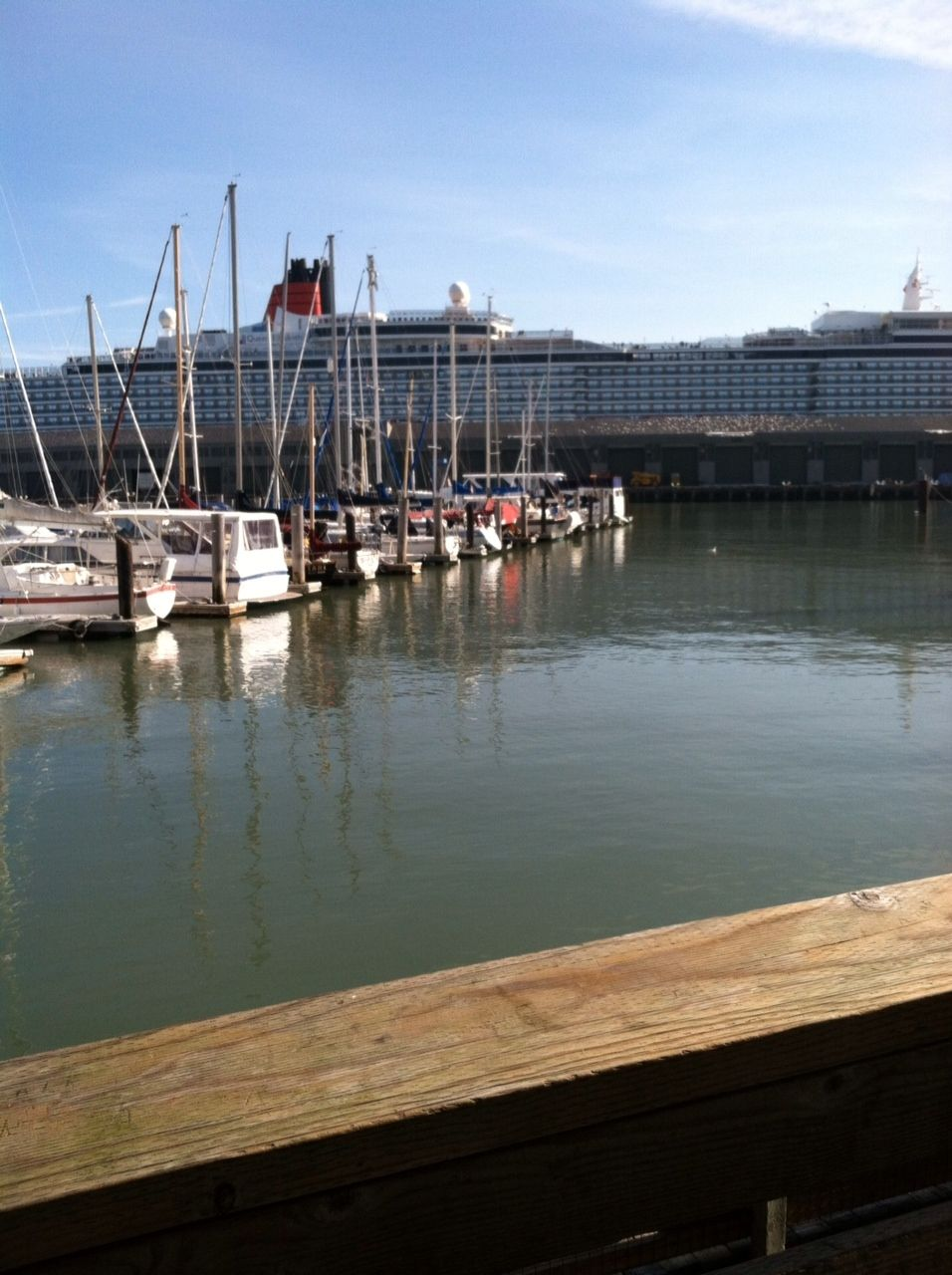 Queen Elizabeth in San Francisco from Pier