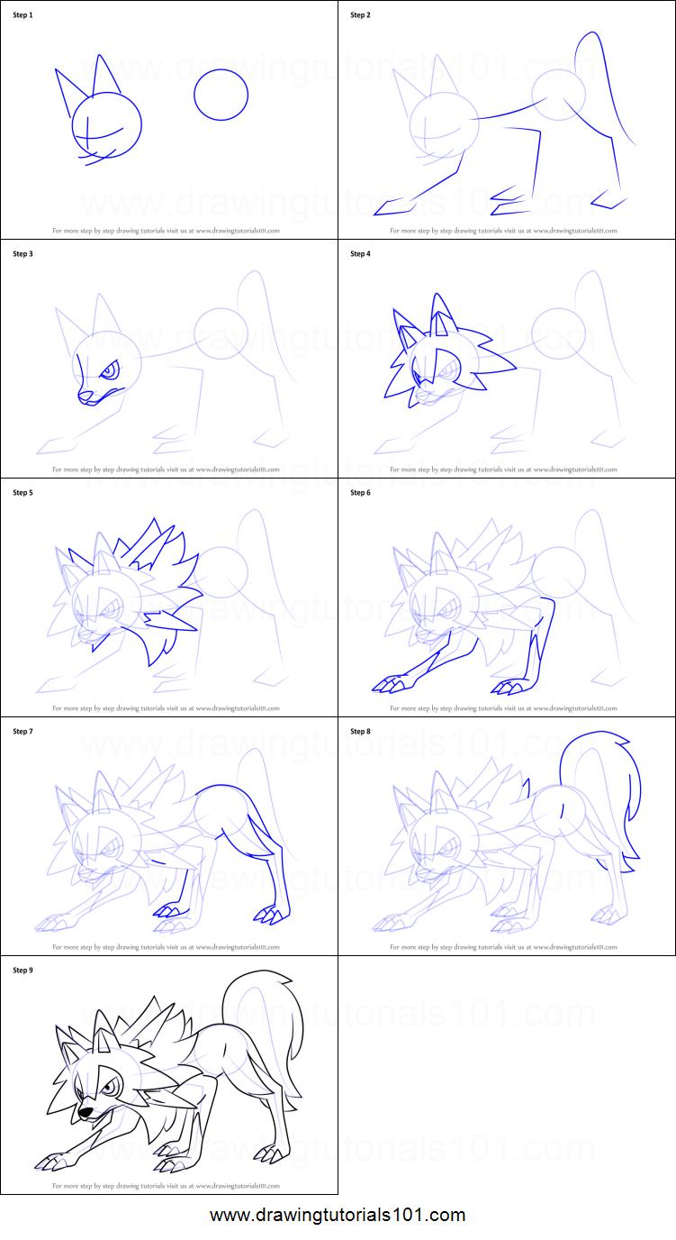 Pokemon Lycanroc, the wolf Pokemon! - Pokemon Lets draw