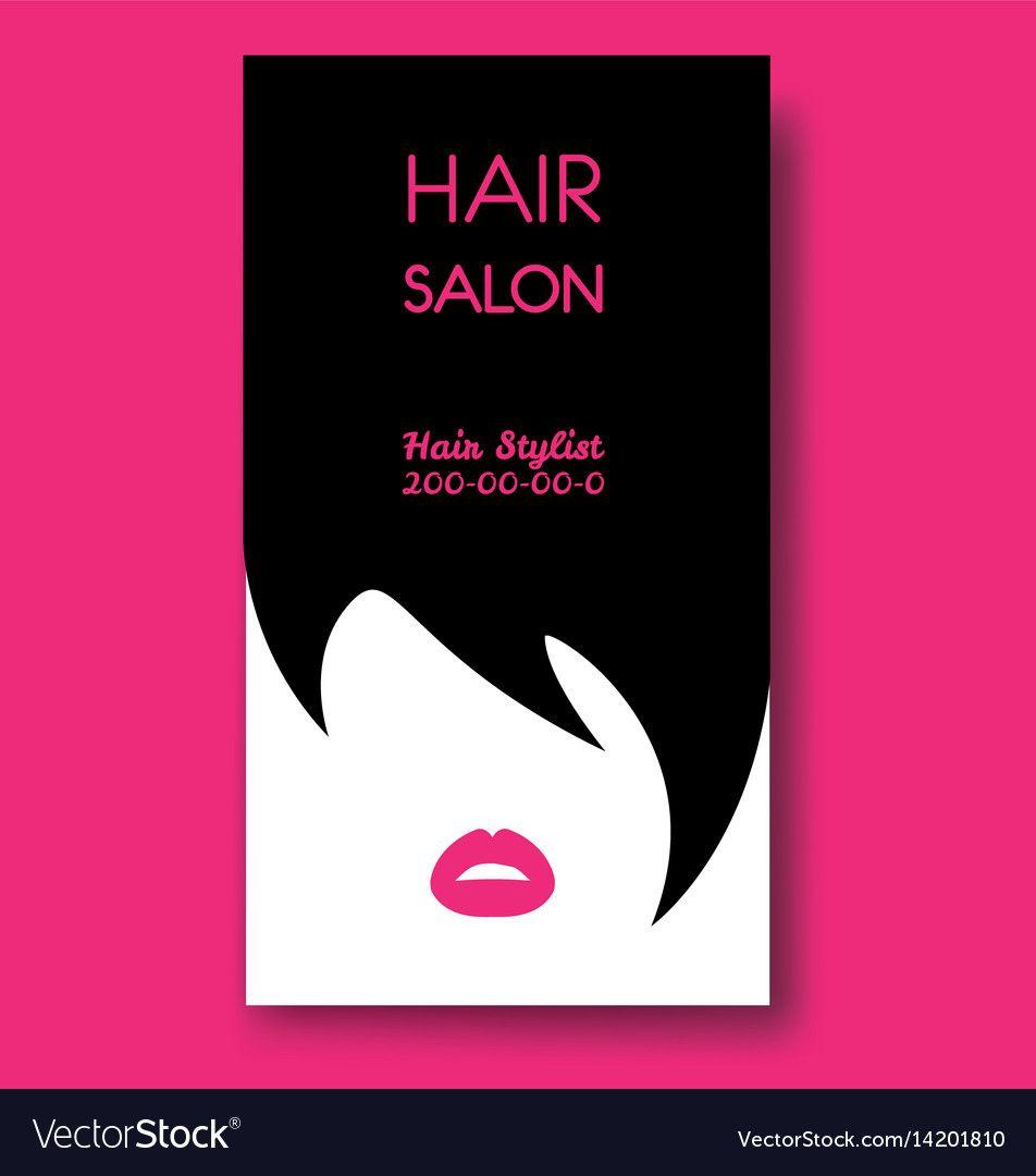 Hair Salon Business Card Templates With Black Hair ...