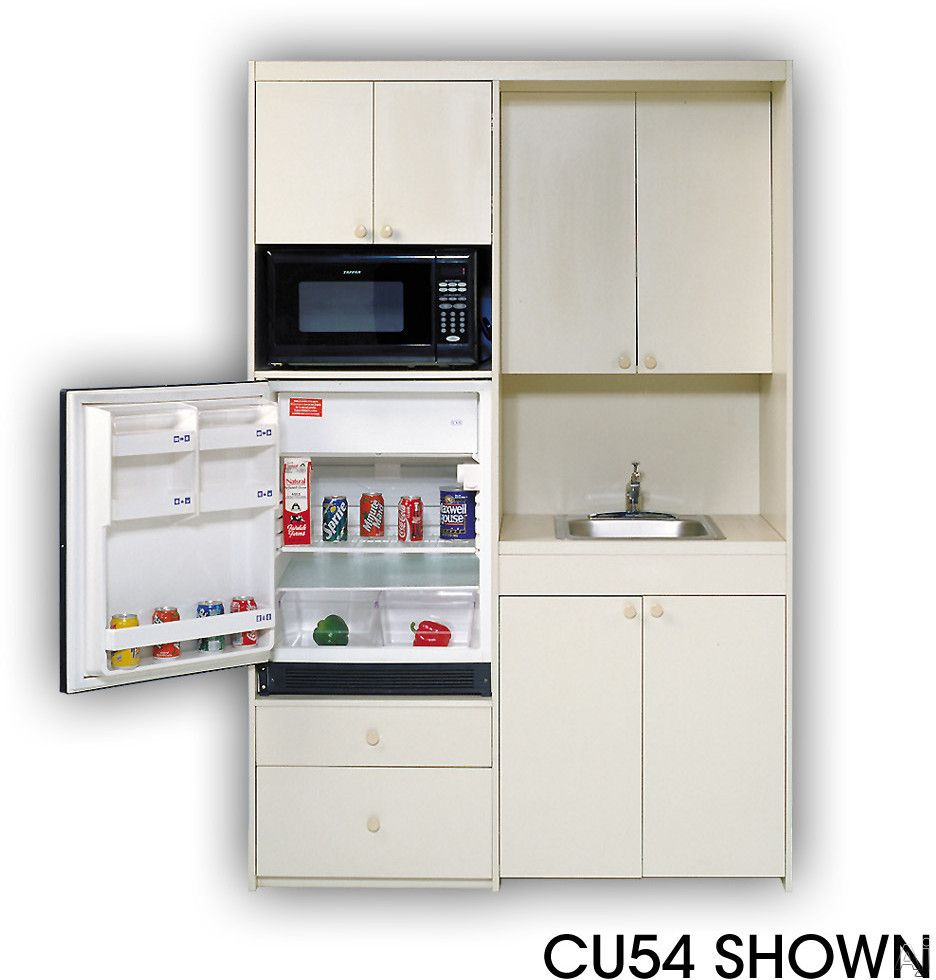 Acme CU54 Compact Kitchen with Stainless Steel Sink, 1 cu. ft ...