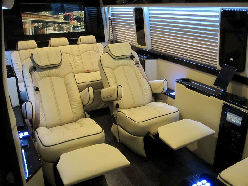Mercedes Sprinter Viano Luxury Recliner Seats Reclining Captain
