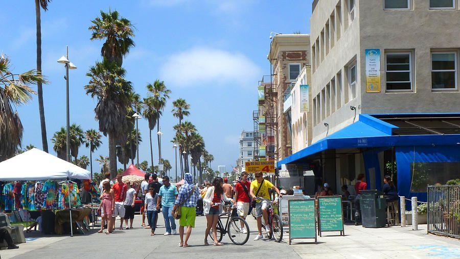 Venice Beach Boardwalk Photograph  - Venice Beach Boardwalk Fine Art Print  by Nancy Merkle