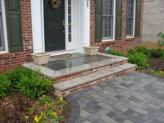 Brick Bluestone Stoop Ideas & Brick Bluestone Stoop Ideas | Home Improvement | Pinterest | Bricks ...
