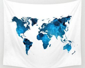 Explore beach world map wall tapestry dark grey font blue white explore beach world map wall tapestry dark grey font blue gumiabroncs Image collections