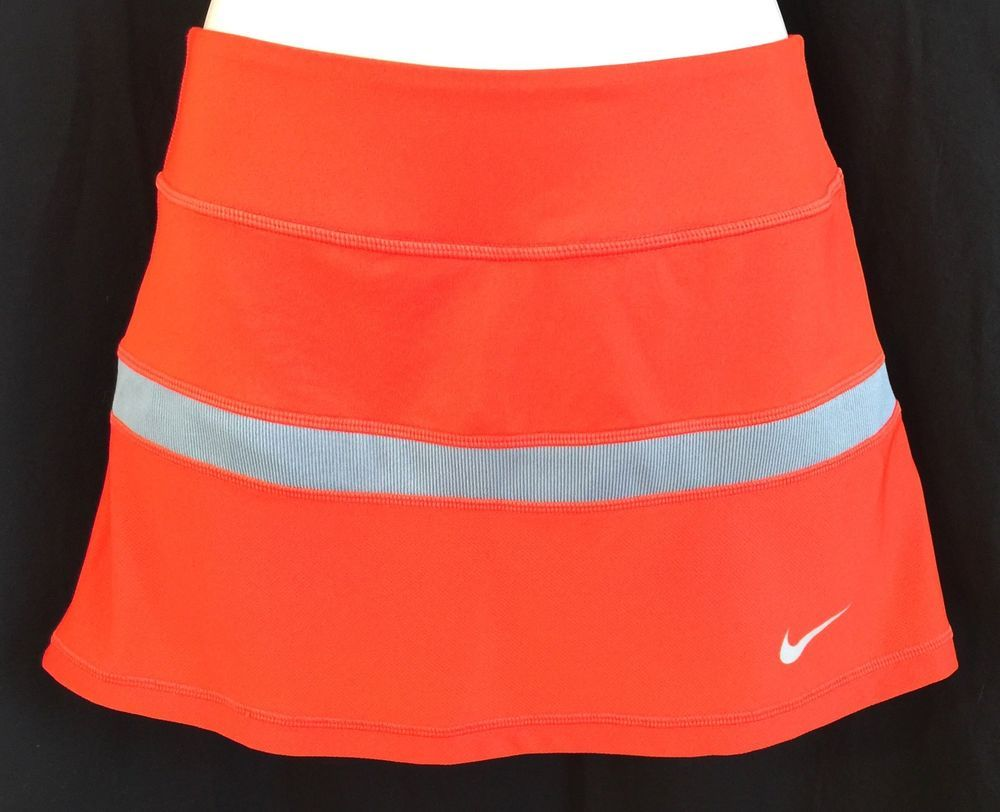 NIKE Women's SZ Small Fitness Skort Orange DRI FIT Tennis Running Skirt w/Shorts  | eBay