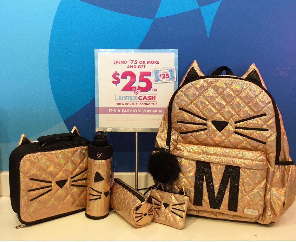 Justice Back To School Backpack Cat Set Justice Backpacks Mini Backpack Diy Girl Backpacks