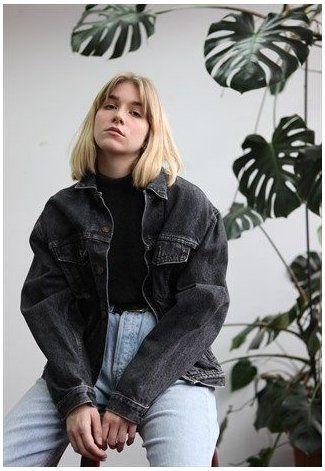 oversized denim jacket black girl