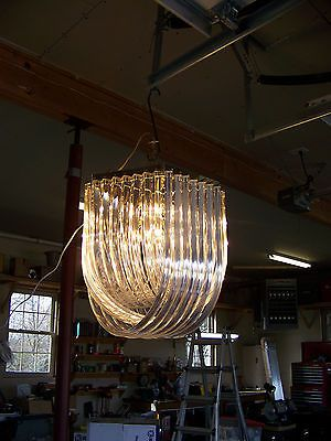 Vintage Retro Hollywood Regency Style Acrylic Lucite Ribbon Chandelier Works Ribbon Chandelier Light Ceiling Lights