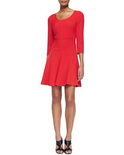 f745b6a5246 T897M Diane von Furstenberg Paloma Scoop-Neck Flare Dress