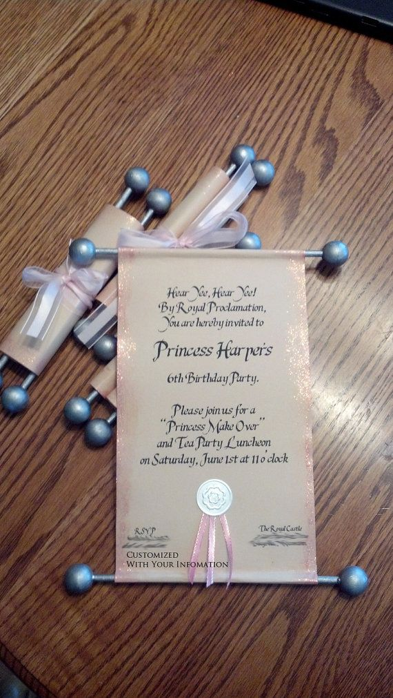 54bcbc632cb192e8303cdf0a8ddb3651 custom princess scroll invitation by andeeroll on etsy, $3 00,Diy Scroll Invitations