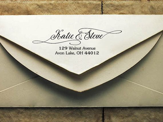 personalized return address stamp