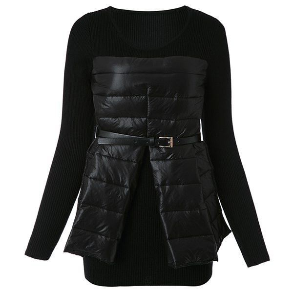 "The "" Underworld "" Quilted Layered Knit top"