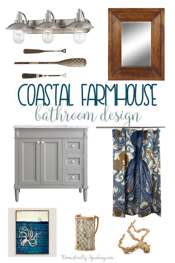 Photo of Coastal Farmhouse Bathroom Design