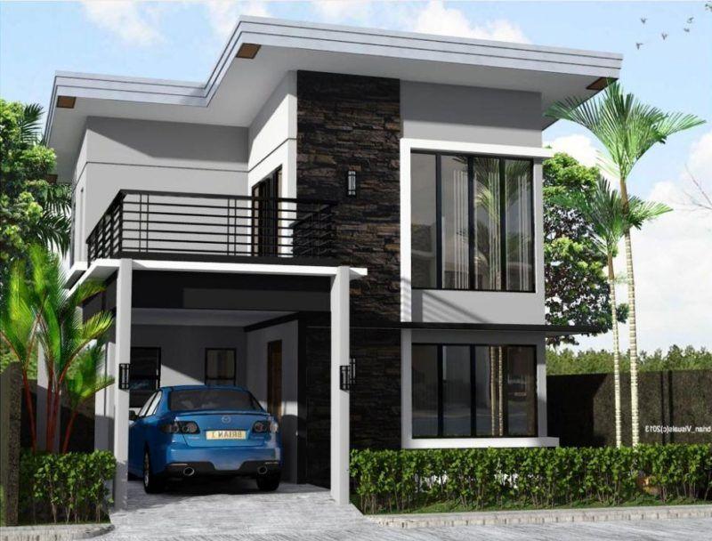 Beispiel eines minimalistischen Wohnbildes 2 Etagen