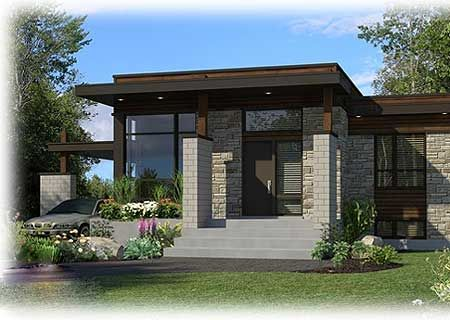 Plan 90262pd Compact Modern House Plan Small Modern Home Modern House Plan Modern House Plans