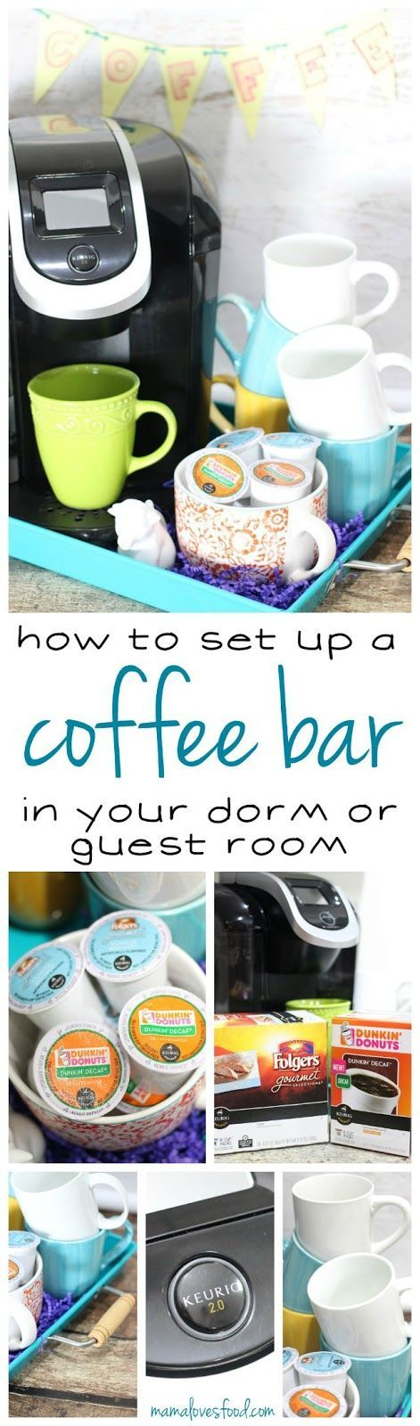 How To Set Up A Coffee Bar In Your Dorm Or Guest Room! Part 98