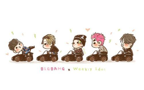 [fanart] #BIGBANG at Weekly Idol 