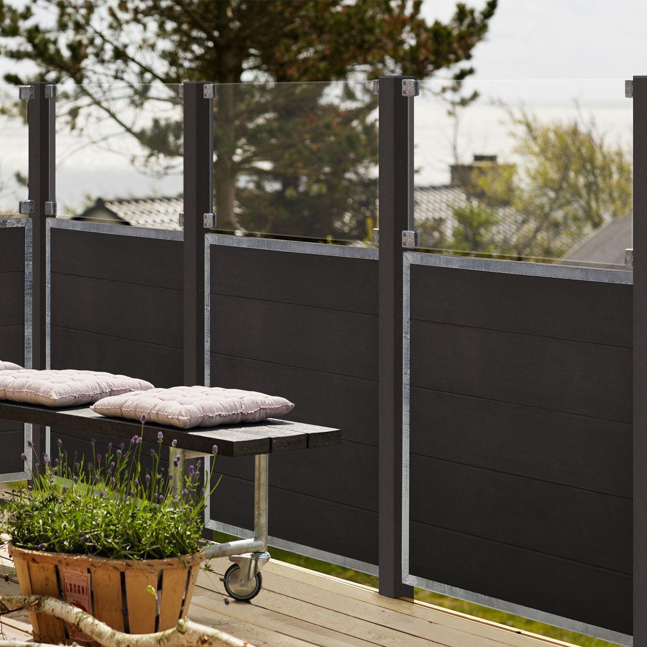 Wpc Sichtschutz Zaun Futur Glas 53 Cm Sichtschutz Garten