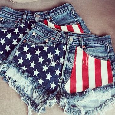 4th Of July Flag Shorts Denim Inspiration 4th Of July Outfits Fashion