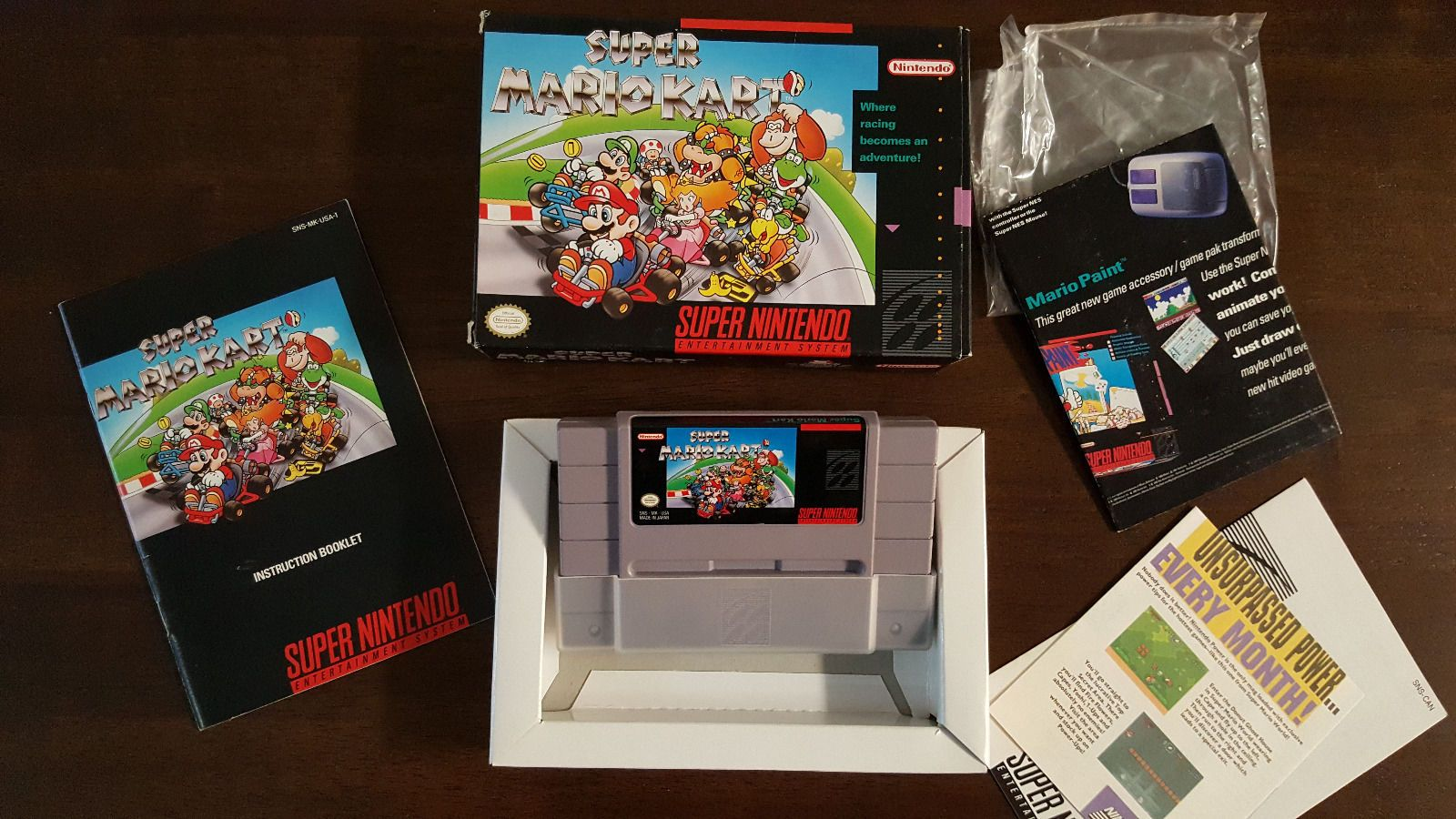 awesome super mario kart cib 100 collector complete box manual rh pinterest com Super Mario RPG SNES Super Mario All-Stars SNES