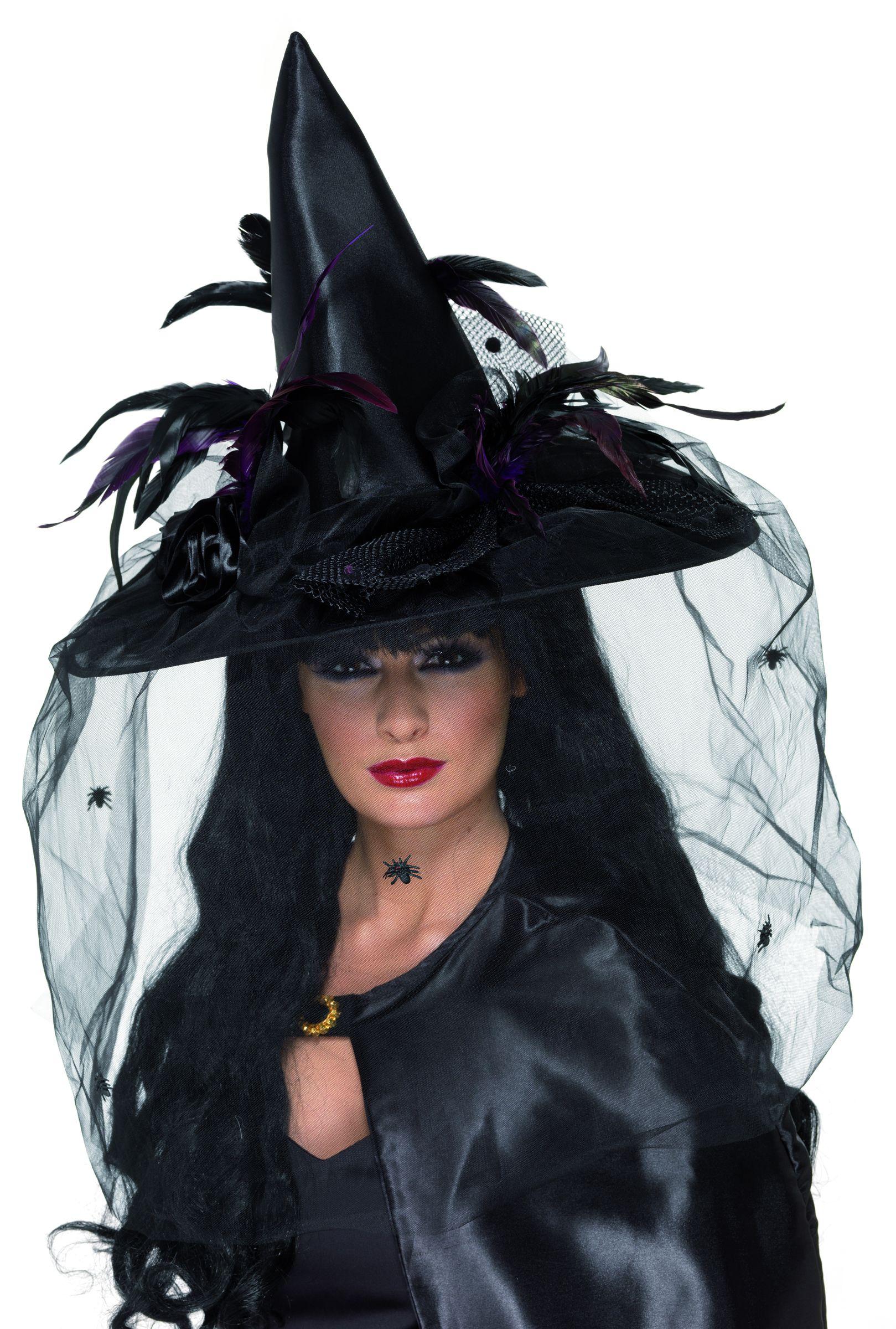 Sombrero de bruja de lujo para mujer 0a752c77469