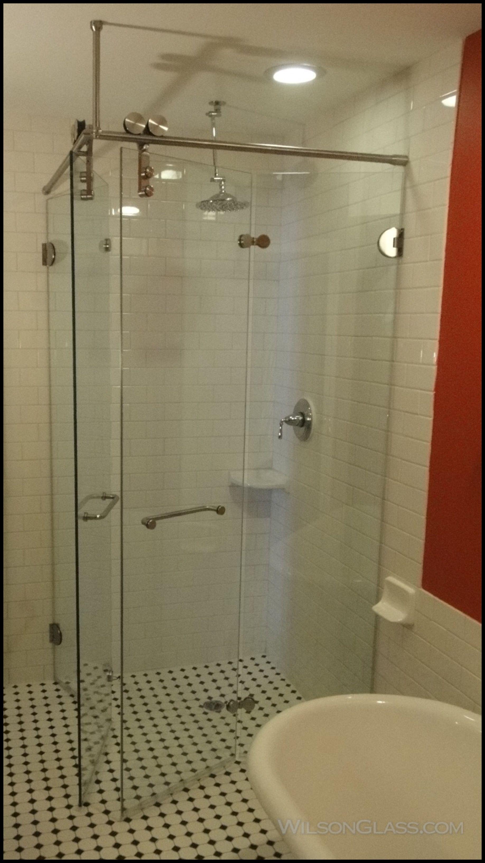 Corner Folding Double Shower Door Bifold Glass Shower Door