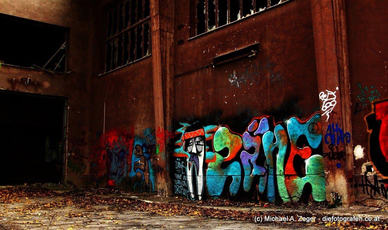 Zimmerwand graffiti beton  leinwand  industry  pinterest  wand