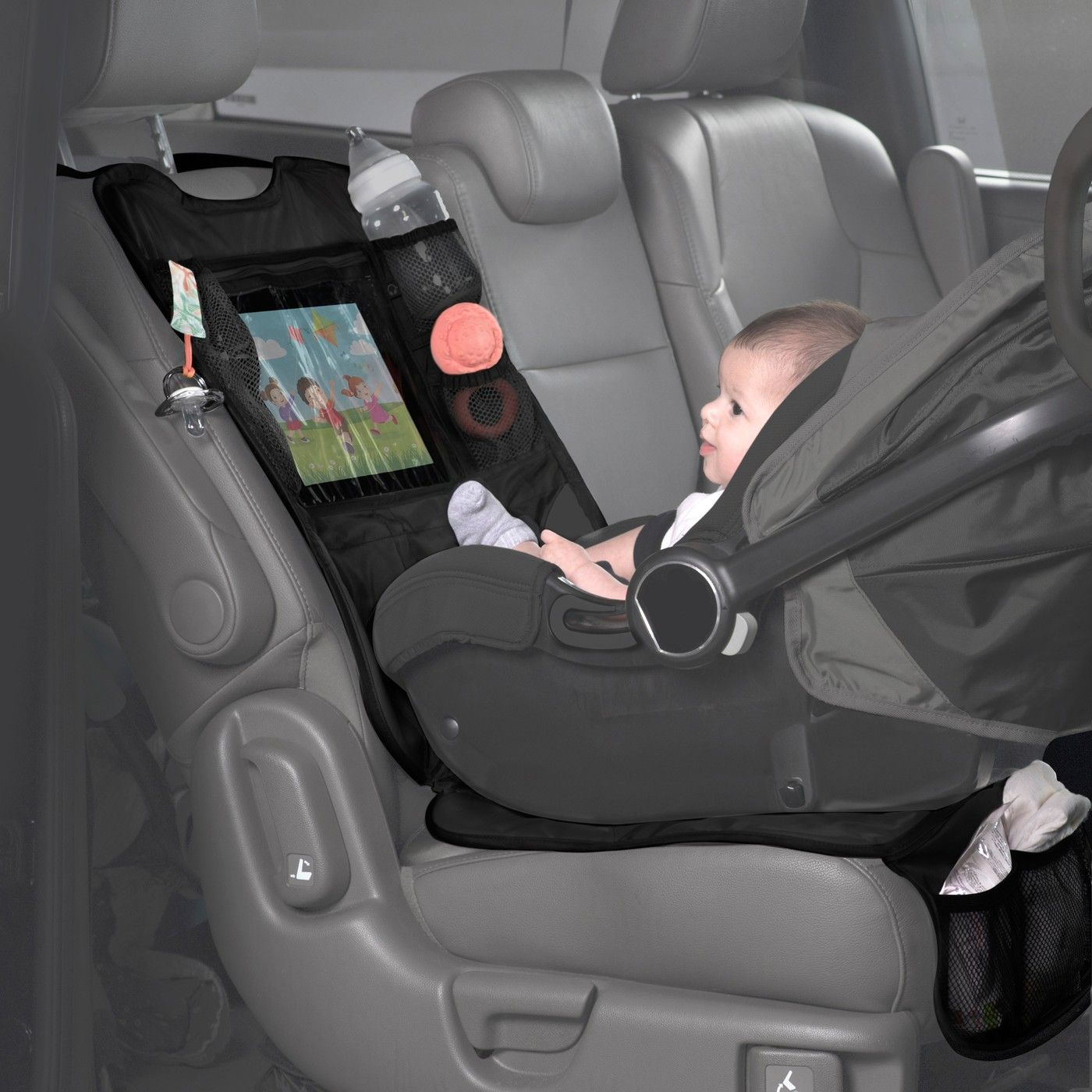 Lulyboo Baby Auto Seat Protector And Carseat Organizer With Clear Device Pocket Baby Life Hacks Baby Supplies Baby Car Seats