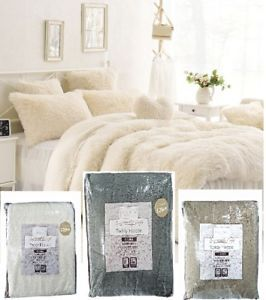 Teddy Bear Fleece Duvet Cover Set Sherpa Thermal Beddig Fitted Sheet Warm Pillow