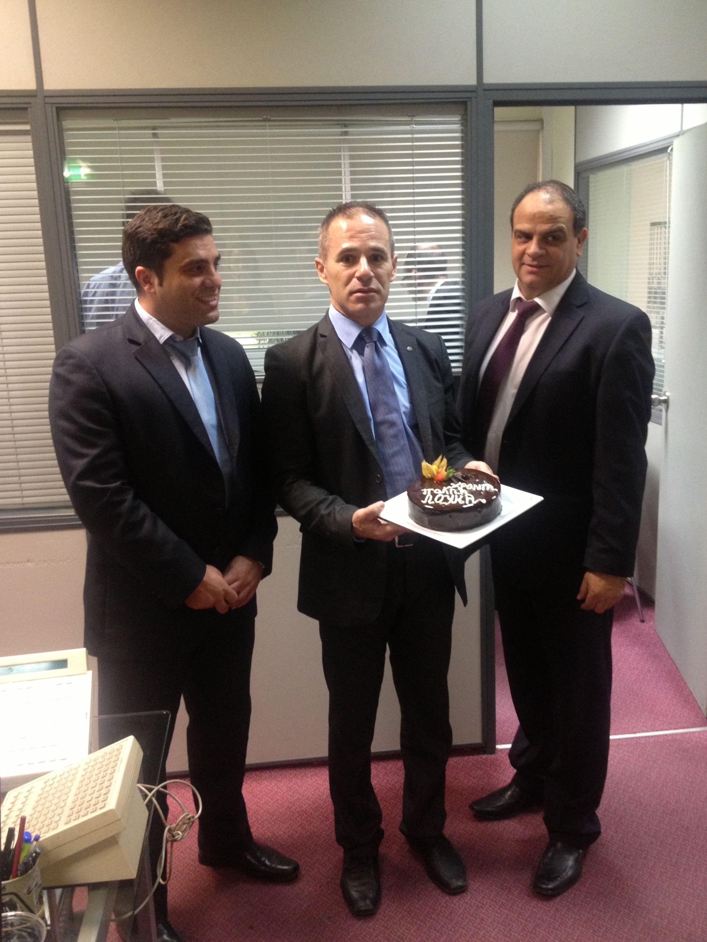 Birthday Celebration!  The Hilton Park Nicosia would like to share a birthday celebration for Loucas Christou,  F&B Supervisor