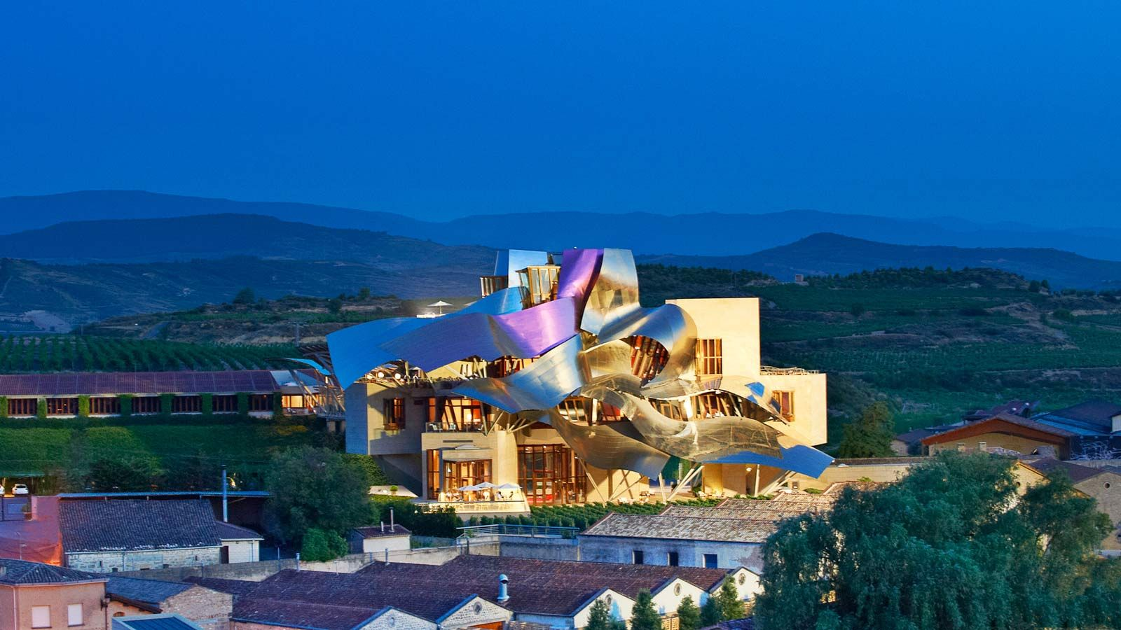 The Hotel Marqués De Riscal Is A Luxury Collection And Spa In Heart Of Vineyards Rioja Alavesa Wine Region Spain