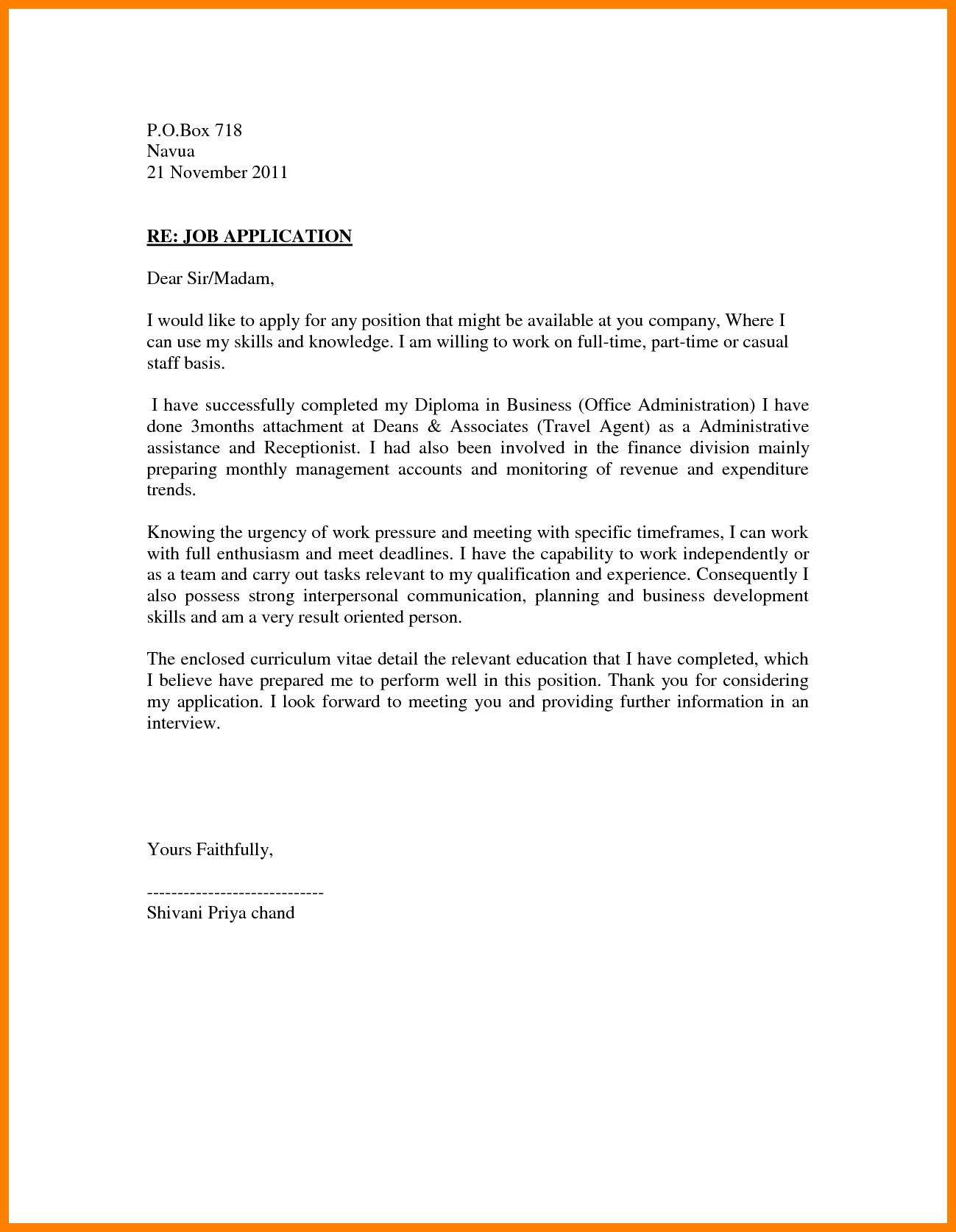 Cover Letter Sales Associate Stunning Sle Application Letter For Any Position Available  News To Gow .