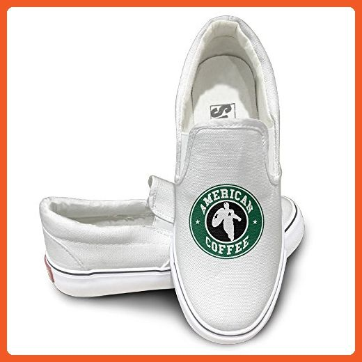549a9fa514 EWIED Unisex Classic American Coffee Slip-On Shoes White Size39 - Loafers  and slip ons for women ( Amazon Partner-Link)