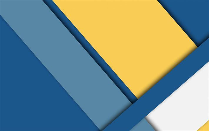Download Wallpapers Blue Yellow Abstract Geometric Pattern Rectangles Material Desing Besthqwallpapers Com In 2021 Yellow Wallpaper Wallpaper Blue Yellow