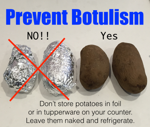 Image result for botulism potatoes