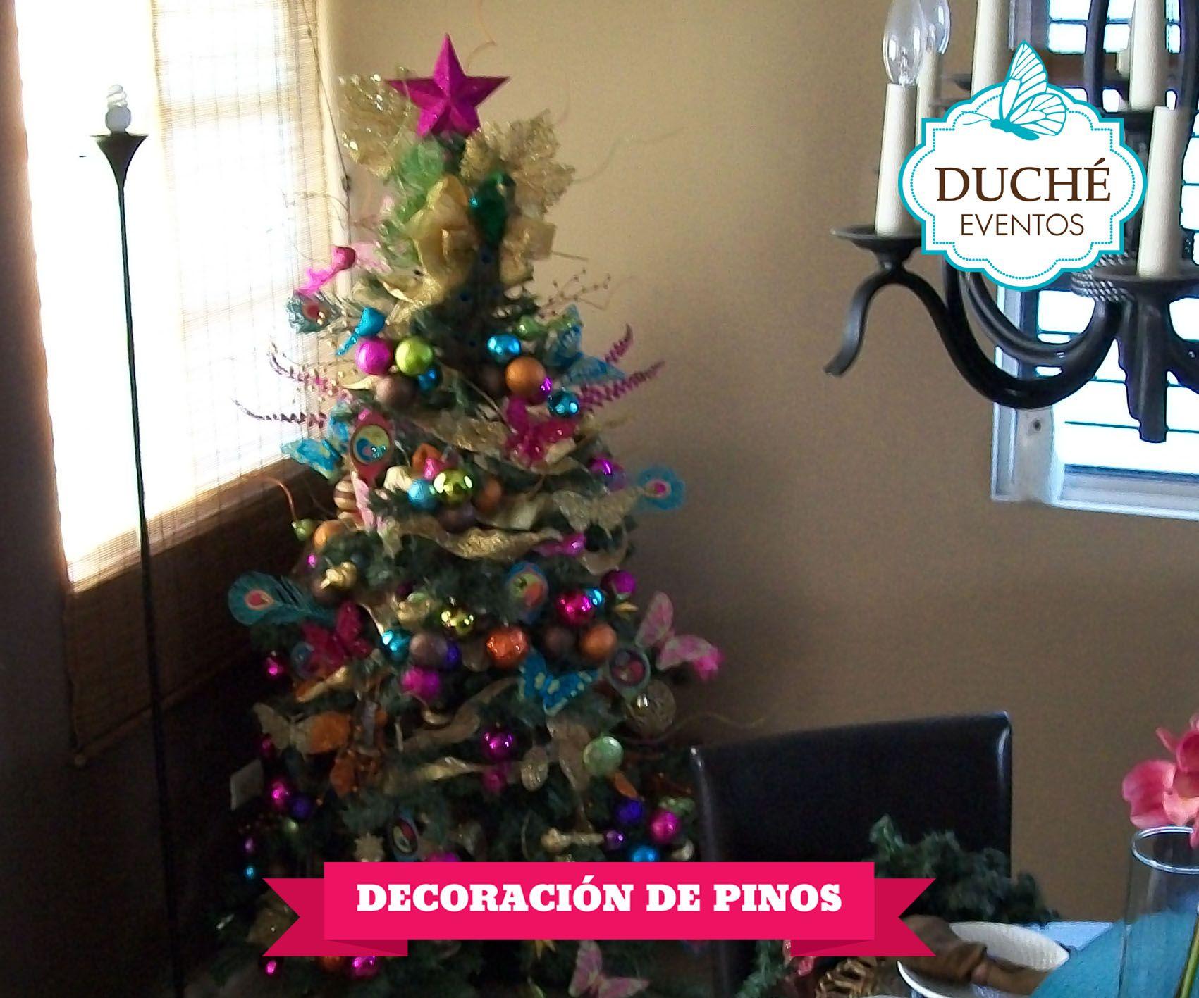Decoración de pinos navideños sociales.duche@gmail.com