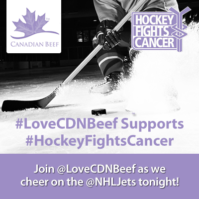 Canadian Beef And Canadian Hockey Both Canadian Icons During Hockeyfightscancer Hockey Fights Cancer Canadian