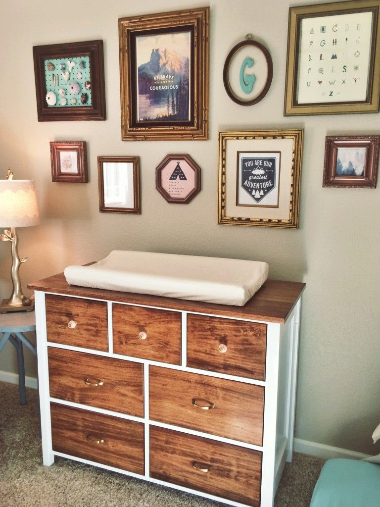 Project Nursery Refinished Dresser With Mismatched Pulls