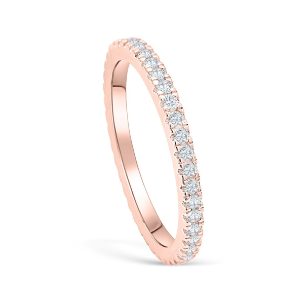 Rose Gold Eternity Band Affordable Wedding Bands Modern