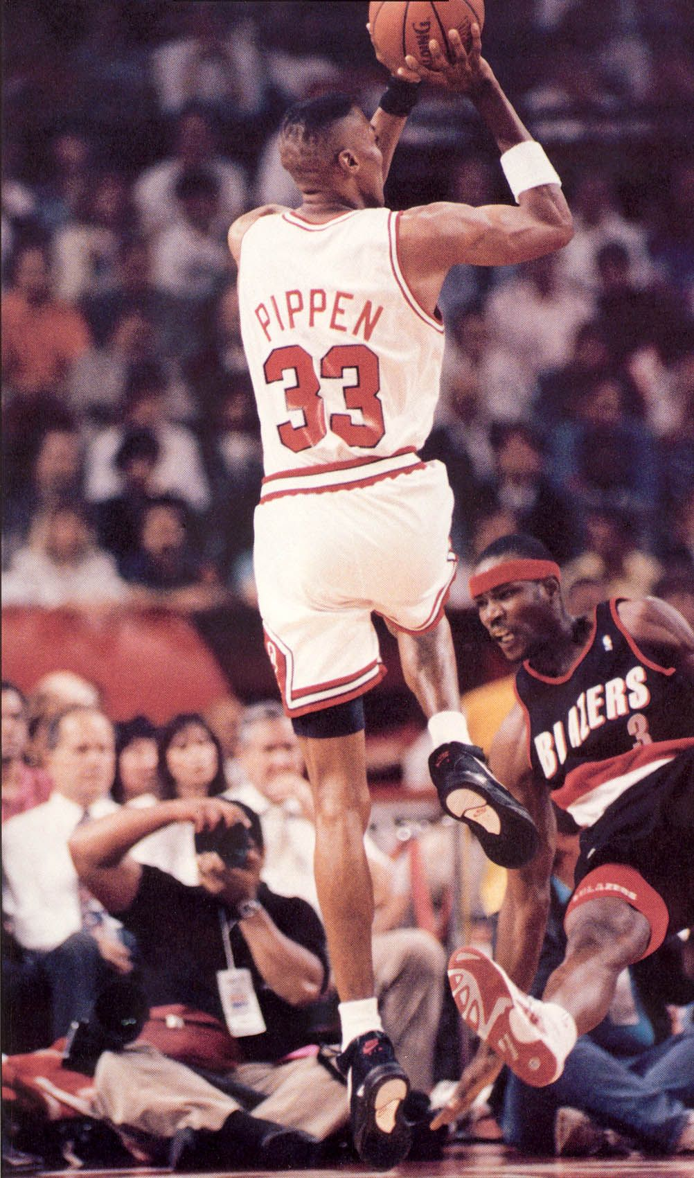 91 92 Finals Scottie Pippen Jumper Cliff Robinson