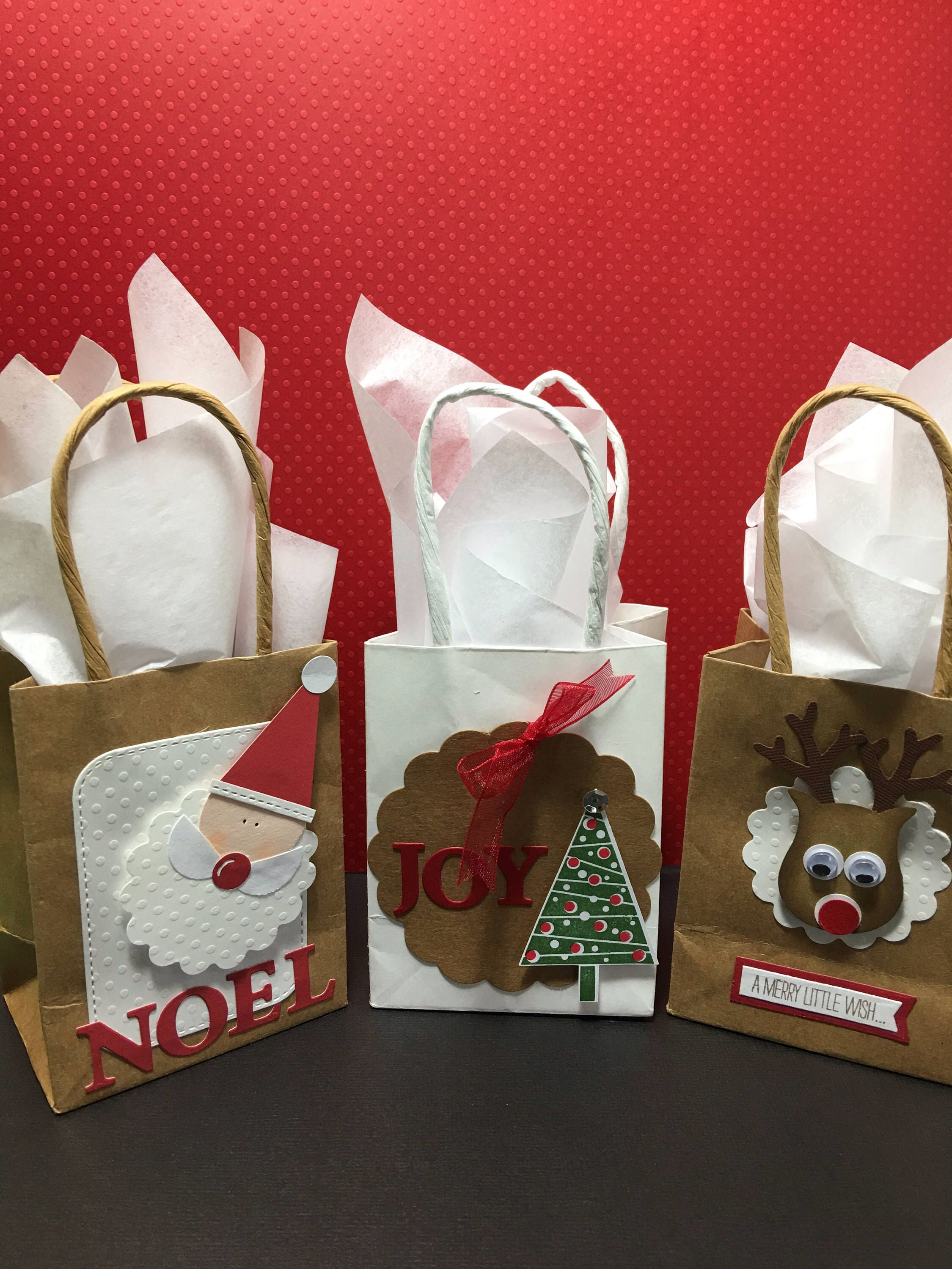Christmas Mini Paper Gift Bags Secret Santa Gift Ideas Etsy Christmas Party Gift Handmade Christmas Gifts Paper Gifts