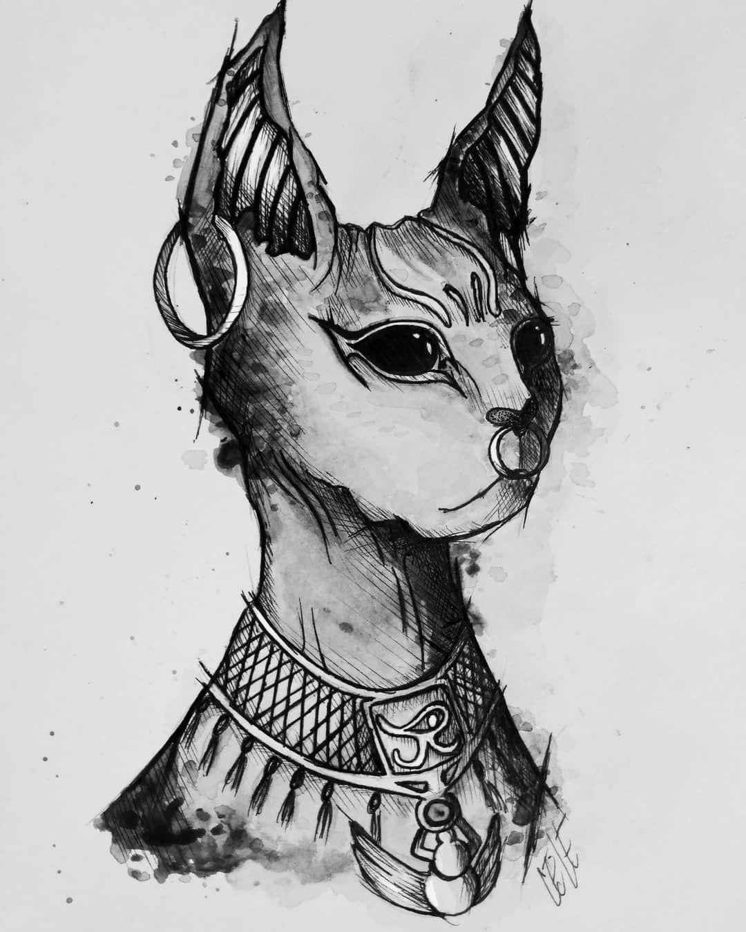 Bastet #acuarela #dibujo #ilustracion #drawing #cat #gato #bastet #egipto  #diosa | Egipto dibujo, Tatuaje gato egipcio, Gatos egipcios