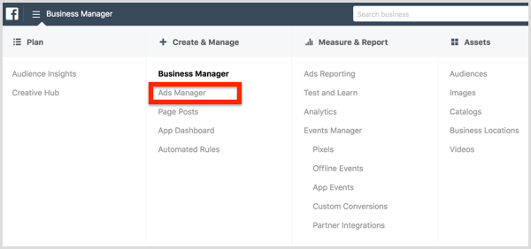 How To Create A Facebook Ad With Business Manager Facebook Ad Facebook Business Ads