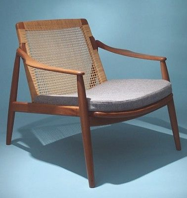 Poul Volther: Teak U0026 Cane Easy Chair For Gemla, 1950s.   Looks Like