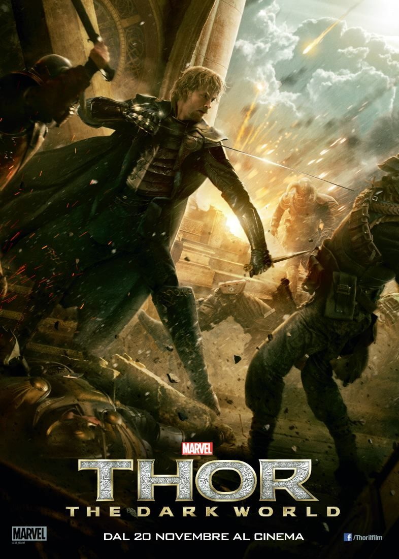 Zachary Levi memerankan tokoh Fandral di film Thor: The Dark World